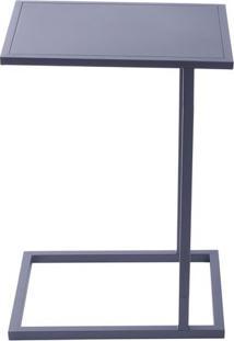 Mesa Lateral Estruturada- Preta- 60X34X43Cm- Or Or Design