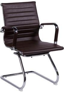 Cadeira Office Eames Esteirinha- Café & Prateada- 89Or Design