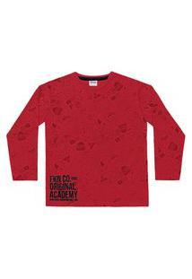 Camiseta Infantil Menino Academy Vermelho - Fakini