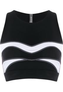 No Ka' Oi Regata Esportiva Com Detalhe De Costura - Preto
