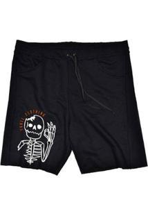 Bermuda Moletom Okay Skull Masculina - Masculino