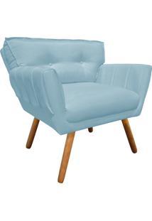 Poltrona Decorativa Anitta Linho Azul Nuvem A07 - D'Rossi