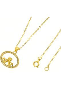 Gargantilha Casal Tudo Jóias Folheada A Ouro 18K Dourada