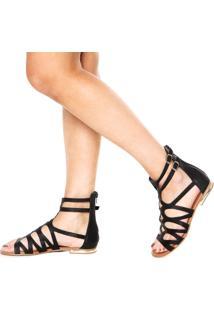Rasteira Dafiti Shoes Gladiadora Preta