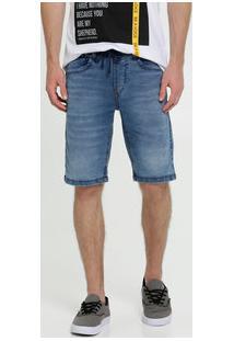 Bermuda Masculina Jeans Stretch