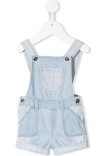 Chloé Kids Jardineira Jeans - Azul