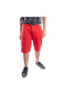 Bermuda Jeans Masculino Short Nstore Destroyed Vermelho