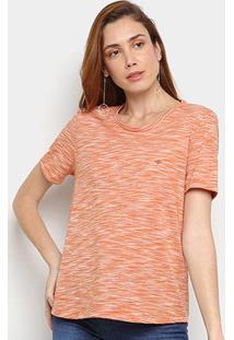Camiseta Forum Listras Feminina - Feminino-Mescla