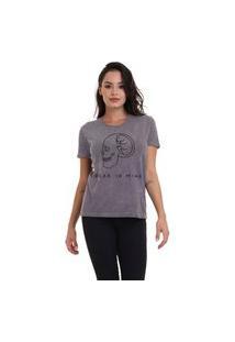 Camiseta Jay Jay Basica Bear In Mind Chumbo Dtg