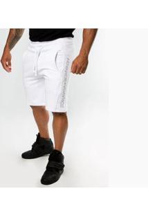 Bermuda Top Fit Moletom Zayon Masculina - Masculino-Branco