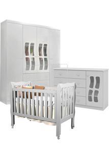 Dormitório Phoenix Letícia New Com Berço Lila Branco