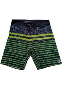 Bermuda Boardshort Stretch Wss Green Belt - Masculino