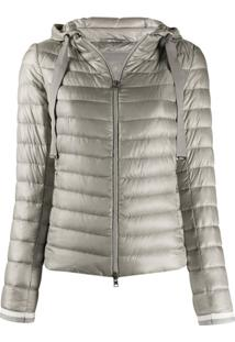 Herno Hooded Quilted-Down Jacket - Cinza