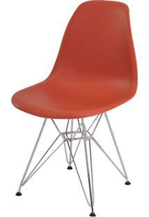 Cadeira Eames Eiffel Pp Laranja Telha Base Cromada - 34296 - Sun House