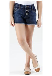 Short Infantil Jeans Botão Marisa