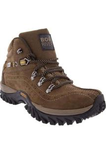 Bota Bow River Outdoor Adventure Couro Oliva Bege
