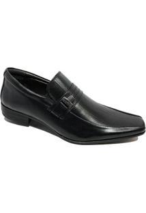 Sapato Social Calvest Em Couro Com Textura Masculino - Preto - 41 - Masculino-Preto