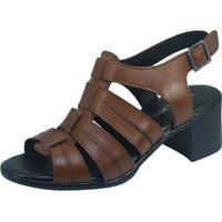 1e9cee125 Kanui. Sandália S2 Shoes Salto Couro Tabaco