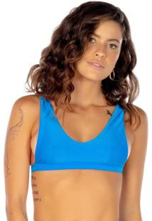 Soutien Top Com Recortes - Azul - Fleeuse Flee
