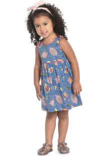 Vestido Rovitex Kids Azul