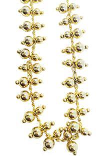 Colar Kumbayá Choker Semijoia Banho De Ouro 18K Mini Bolinhas Duplas Com Acabamento