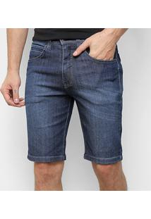 Bermuda Jeans Onbongo Basic Masculina - Masculino-Azul