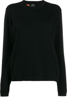 Ps Paul Smith Long Sleeve Pullover - Preto