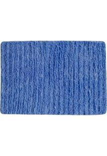 Tapete Para Banheiro Indiano- Azul- 70X50Cm- Agiagi Tapetes
