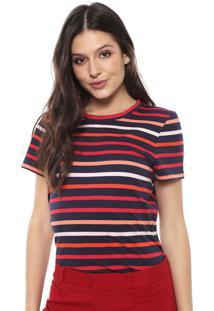 Camiseta Banana Republic Crew-Neck Azul-Marinho/Vermelha