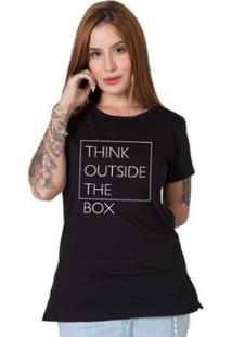 Camiseta Stoned Think Outside The Box Feminina - Feminino