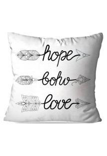 Capa De Almofada Avulsa Decorativa Hope Boho Love 45X45Cm