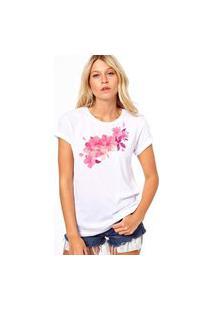 Camiseta Coolest Flores Cor De Rosa Branco