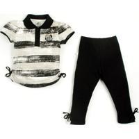 Conjunto Curto Reve D Or Sport Polo E Legging Santos Branca 08a58f71d957d