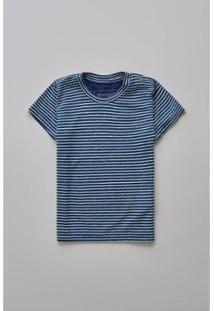Camiseta Masculina Infantil Bb Linho Mar Reserva Mini - Masculino-Marinho