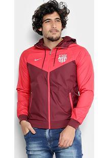 Jaqueta Barcelona Nike Woven Capuz Masculina - Masculino bad623e8838