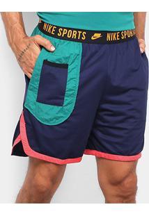 Shorts Nike Dry Dy Masculino - Masculino-Azul+Verde