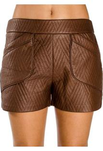Shorts Couro Fake Lucidez 38