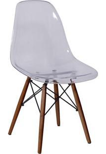 Cadeira Eames Dkr- Incolor & Madeira Escura- 80,5X46Or Design