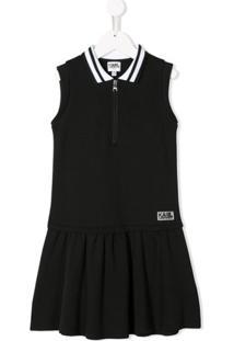 Karl Lagerfeld Kids Vestido Polo Evasê - Preto
