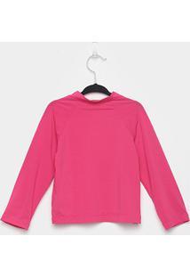 Camiseta Infantil Bebê Ecoeplay Manga Longa Proteção Uv Feminina - Feminino-Pink