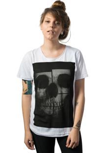 Camiseta Skull Lab Caveira Branco
