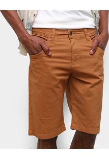 Bermuda Sarja Ecxo Color Masculina - Masculino-Caramelo