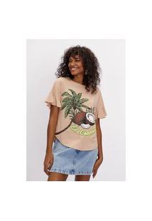 T-Shirt Alongada Lança Perfume T-Shirt Verde