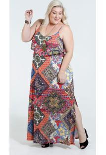 Vestido Feminino Floral Plus Size Marisa