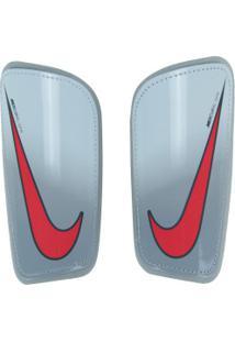 Caneleira De Futebol Nike Mercurial Hard Shell - Adulto - Cinza Claro