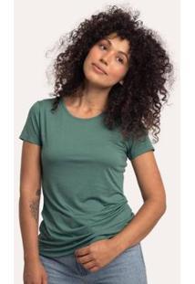 Camiseta Decote Redondo Em Modal Terrário Cora Básico Feminina - Feminino