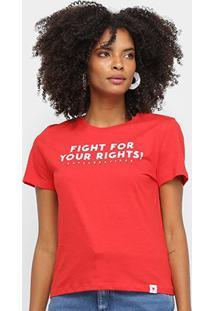 Camiseta Cavalera Fight For Your Rights Feminina - Feminino