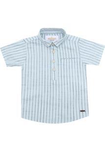 Camisa Milon Menino Listrada Azul