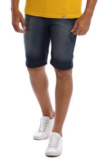 Bermuda Jeans Bamborra Slim Com Lycra Estonada Azul - Kanui