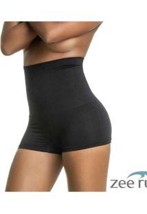 Calcinha Boxer Modeladora Alta Sem Costura Preta C